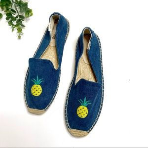 Soludos | New Chambray Pineapple Espadrilles 8
